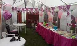 Surprise birthday party tent