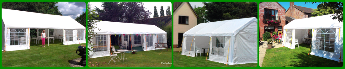 Our 4 sizes of marquees